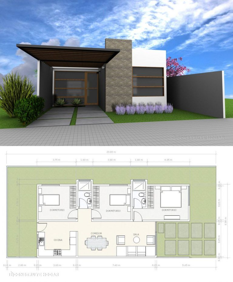 Ideas De Fachada Y Planos Para Construir Casa Pequeña Apartamentos