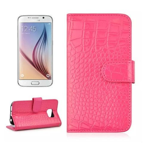 Croco synthetic Leather Wallet Case for Samsung S6