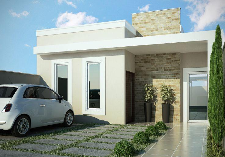 Fachadas de casas pequenas 10 modelos Casa Pinterest Fachadas