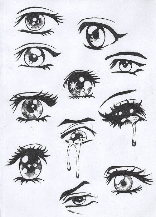 Eyes Are My Favorite Human Feature To Look At And Draw And These Are Just Awesome Drawings Easy Anime Eyes Anime Drawings