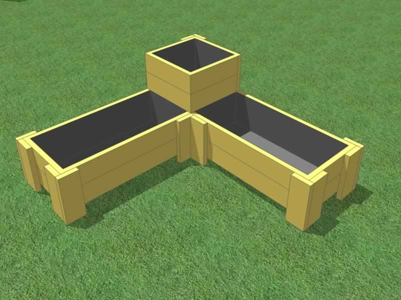 Triangle Corner Planter Box Design For Gardening Veggies