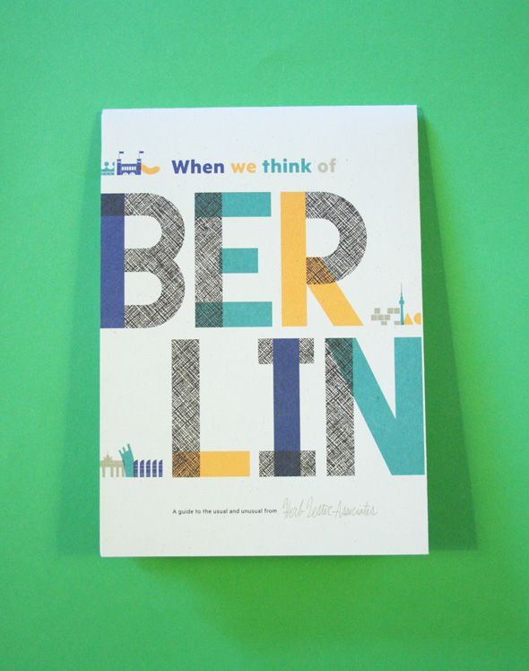 When we think of Berlin: Map - Products - Shop & Library - YCN