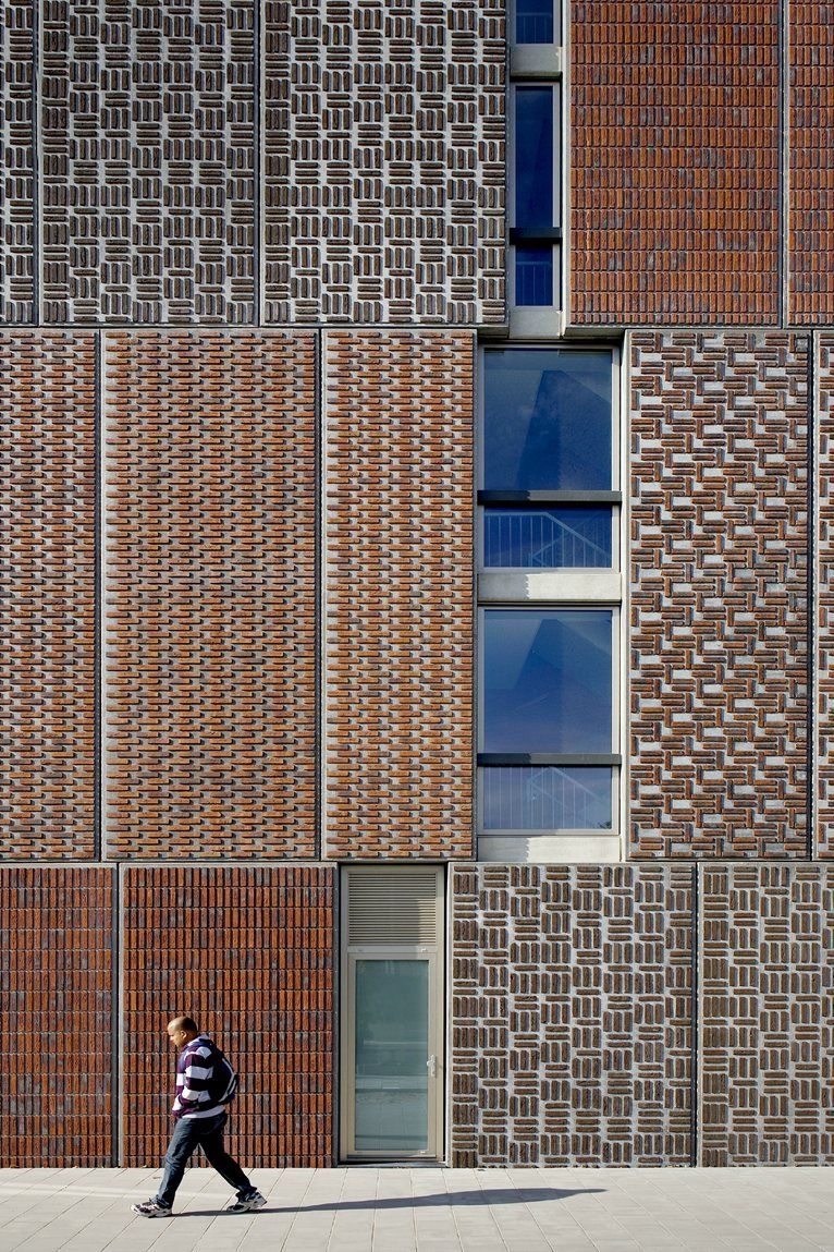 Prefab Metal Panels With Brick Patterns As A Rain Screen -4570