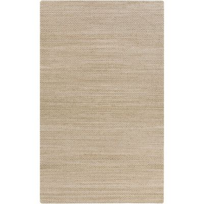 Beachcrest Home Tinsley Hand-Woven Khaki Area Rug Rug size: 8' x 11'