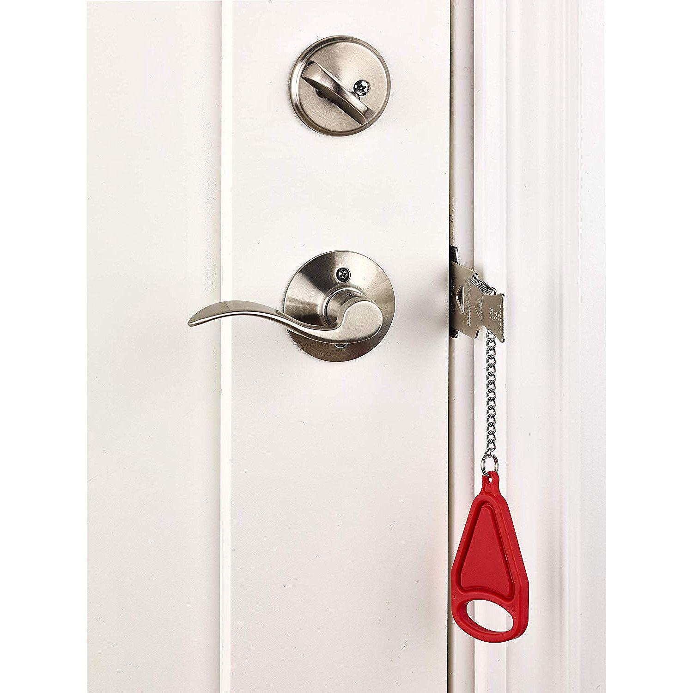 Portable Door Lock Adds An Extra Layer Of Protection Doors Portable Door Handles
