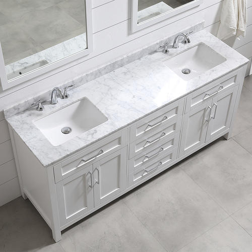 Ove Decors 72 W X 21 D White Tahoe Vanity And Vanity Top With Undermount Sink And Mirror In 2020 Double Vanity Bathroom Double Sink Bathroom Vanity Small Bathroom