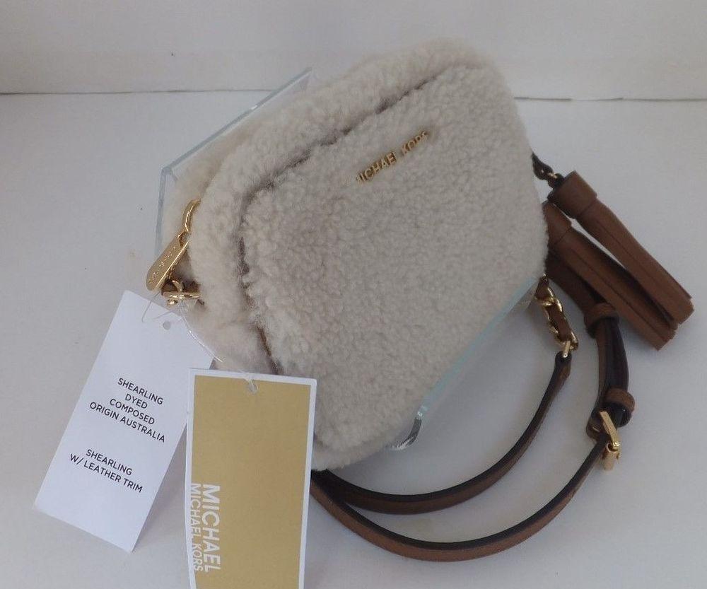 5d8494f0f6b4 MICHAEL Michael Kors Jet Set Travel Small Chain Crossbody Fur Bag Natural  Walnut #MichaelKors #Crossbody
