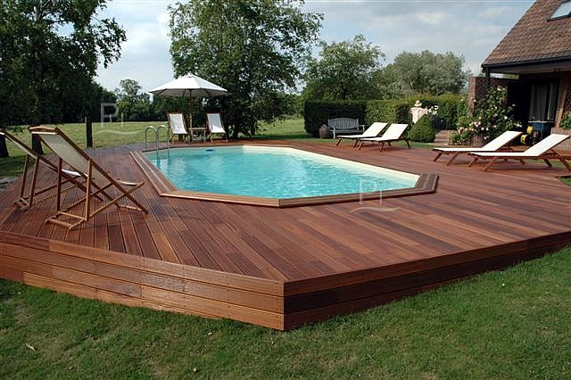 Piscina Fuori Terra In Legno Jardin 815 With Images Swimming
