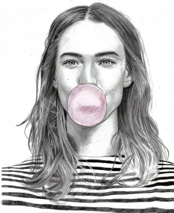Bubble gum pop pencil drawing photorealistic art showcase bubble gum pop pencil drawing photorealistic ccuart Image collections