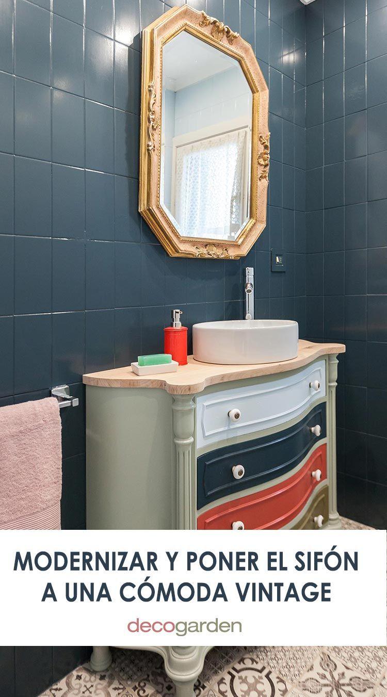 Cómo decorar un cuarto de baño azul elegante - Decogarden ...