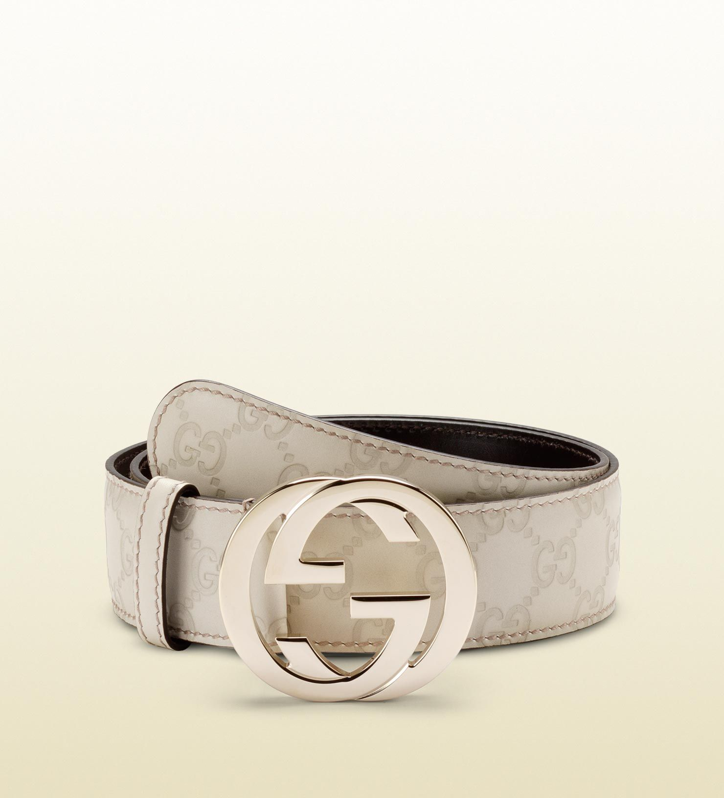 88db23bbf guccissima leather belt with interlocking G buckle | Men's Belts in ...