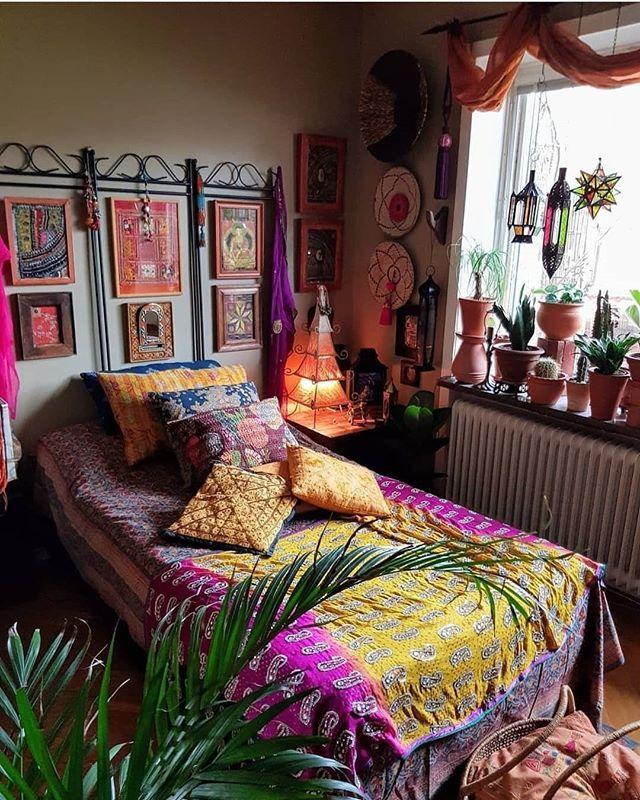 Home Interiordecoration: A Spiritually Uplifting Boho Style Bedroom Credit