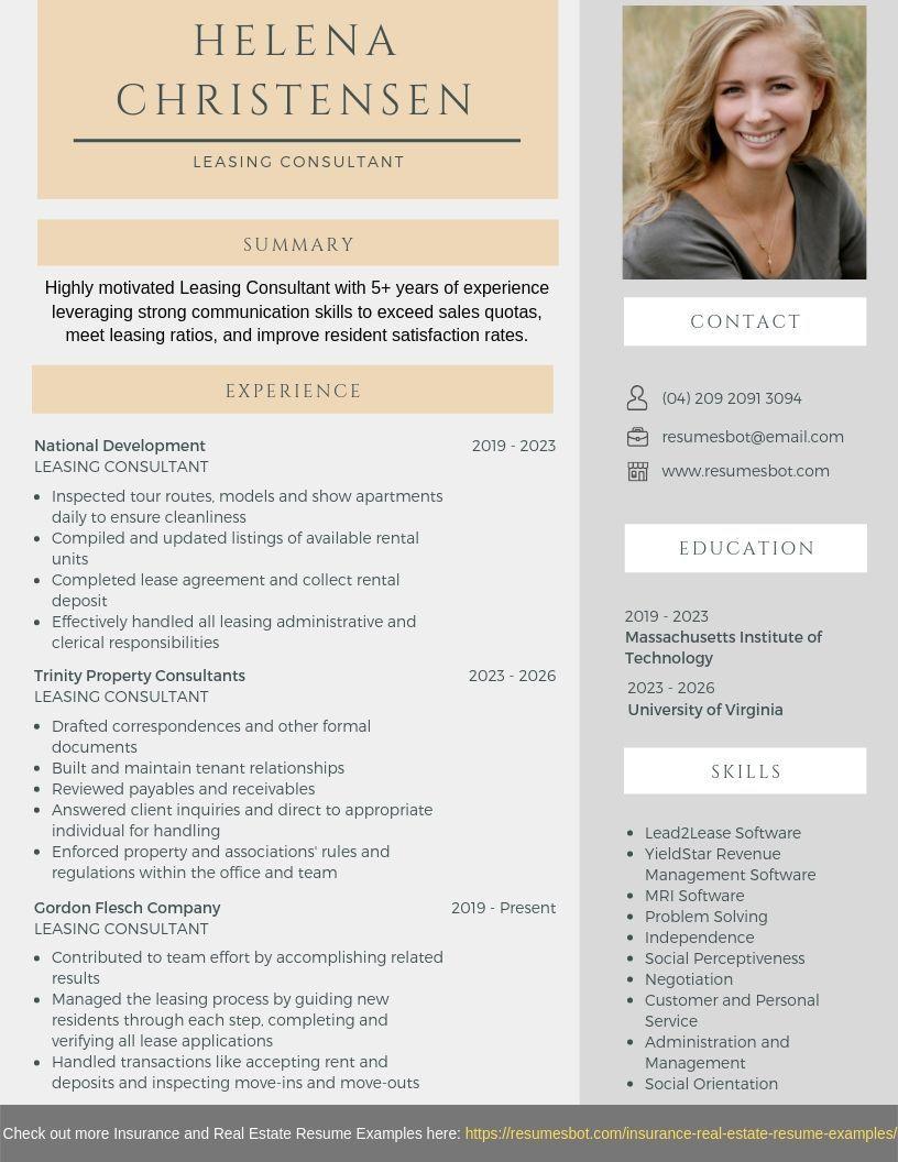 Leasing consultant resume resume skills resume