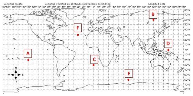 Docenteca Coordenadas Geográficas Con Actividades Para Primaria Coordenada Geografica Actividades De Geografía Geograficos