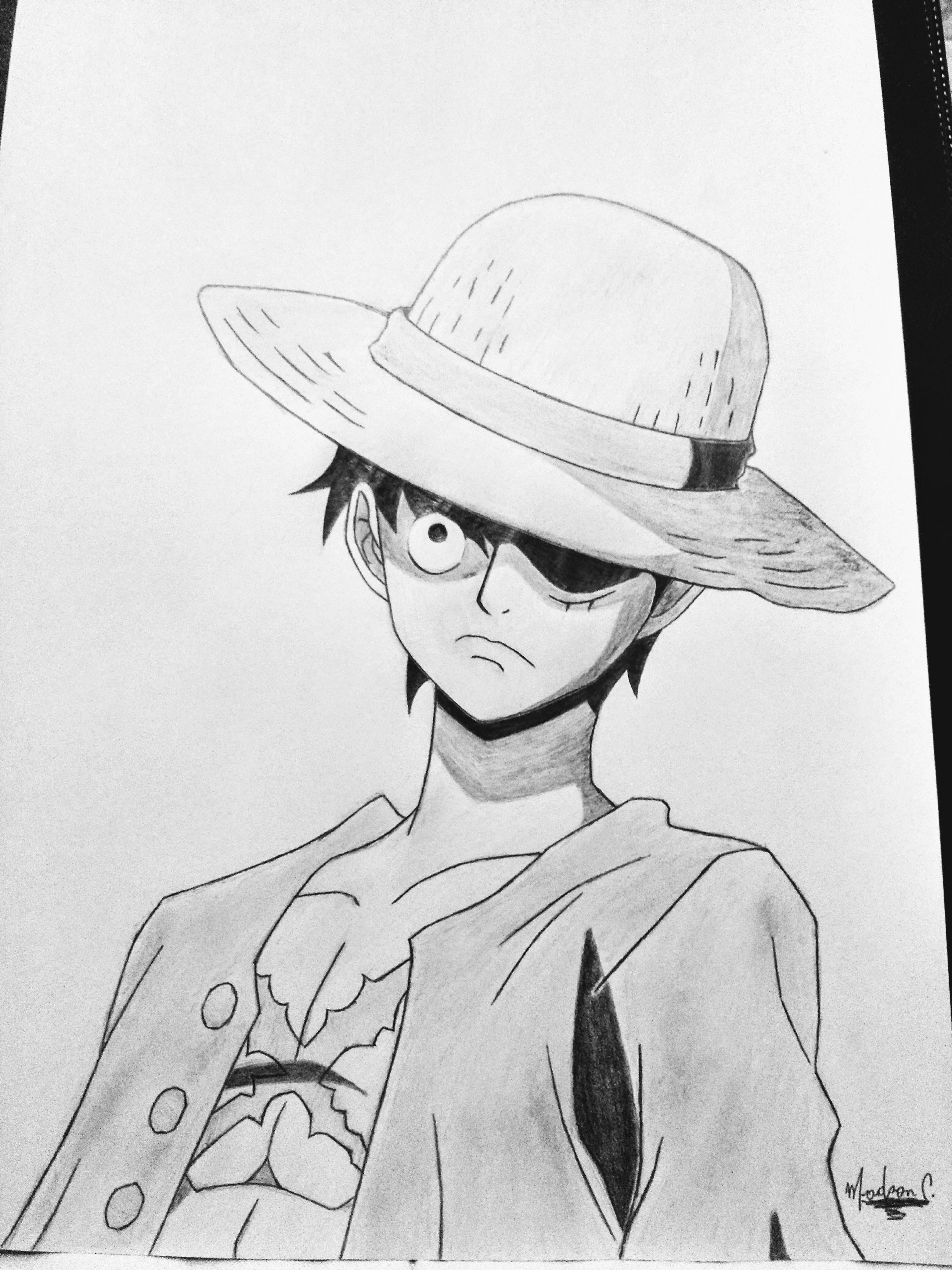 Monkey D Luffy From One Piece Sketches Drawings Monkey