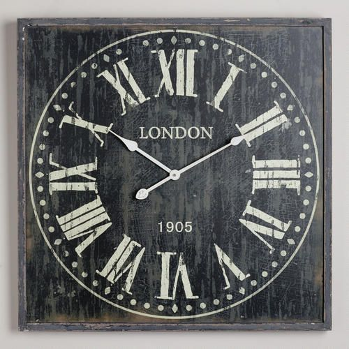 Black Bailey Wall Clock at Cost Plus World Market >>#WorldMarket Urban Dwellings Collection
