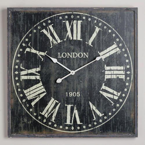 Black Bailey Wall Clock Wall Clock Clock Roman Numeral Wall Clock