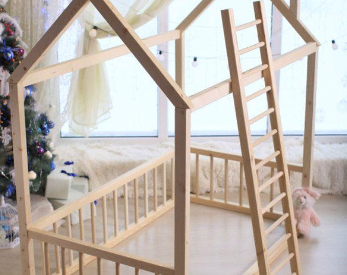 Delightful Montessori Möbel, Bett, Haus Bett, Montessori Bett, Holzhaus, Holzhaus