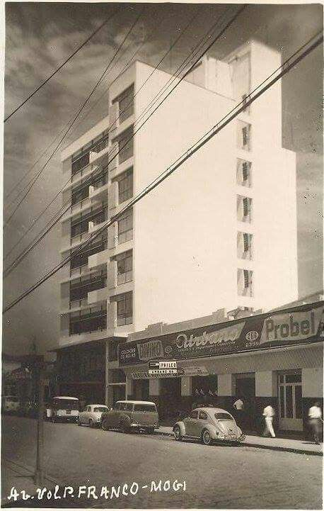 Av. Vol. Fernando Pinheiro Franco ( Avenida dos Bancos ), Mogi das Cruzes - SP. Década de 60