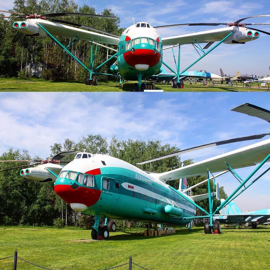 Mil Mi V12 the largest helicopter that ever flew larger