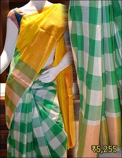 Trendy And Awesome Two Color Combination Uppada Silk Saree For You To Look More Beautiful