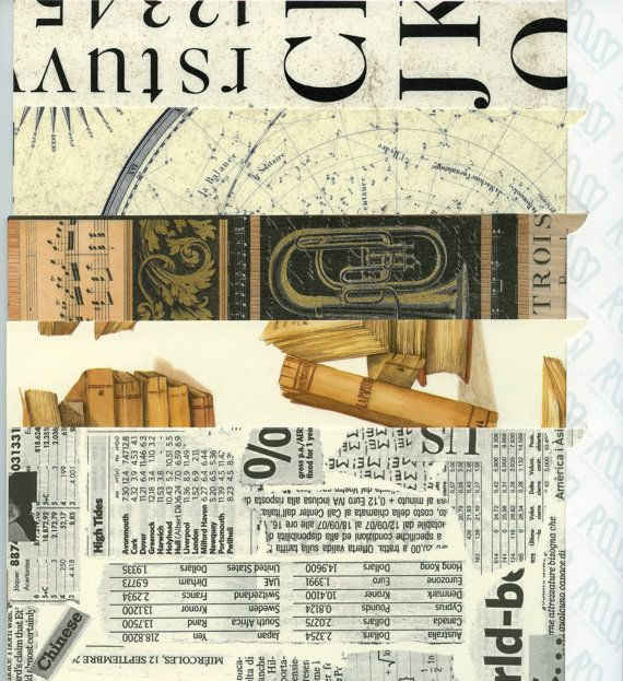 ITALIAN COLLAGE Paper  Writing / Music / Old by OneDayLongAgo, $10.25