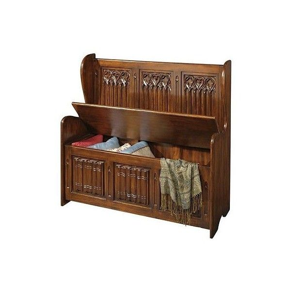 Delicieux Church Pew Storage Bench Medieval Victorian Gothic Abbey Blanket Chest... ❤  Liked On