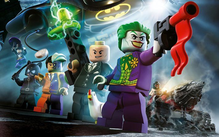 Download Wallpapers The Lego Batman Movie 2017 Two Face Bane Catwoman Lego Joker Besthqwallpapers Com Lego Batman Wallpaper Batman Wallpaper Lego Wallpaper Batman movie joker wallpaper lego