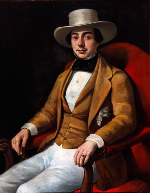Amans, Jacques Guillaume Lucien - Painting -Portrait of a Planter, NOMA