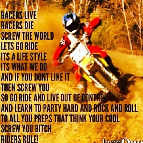 Motocross Dirt Bike Quotes Bike Quotes Motocross