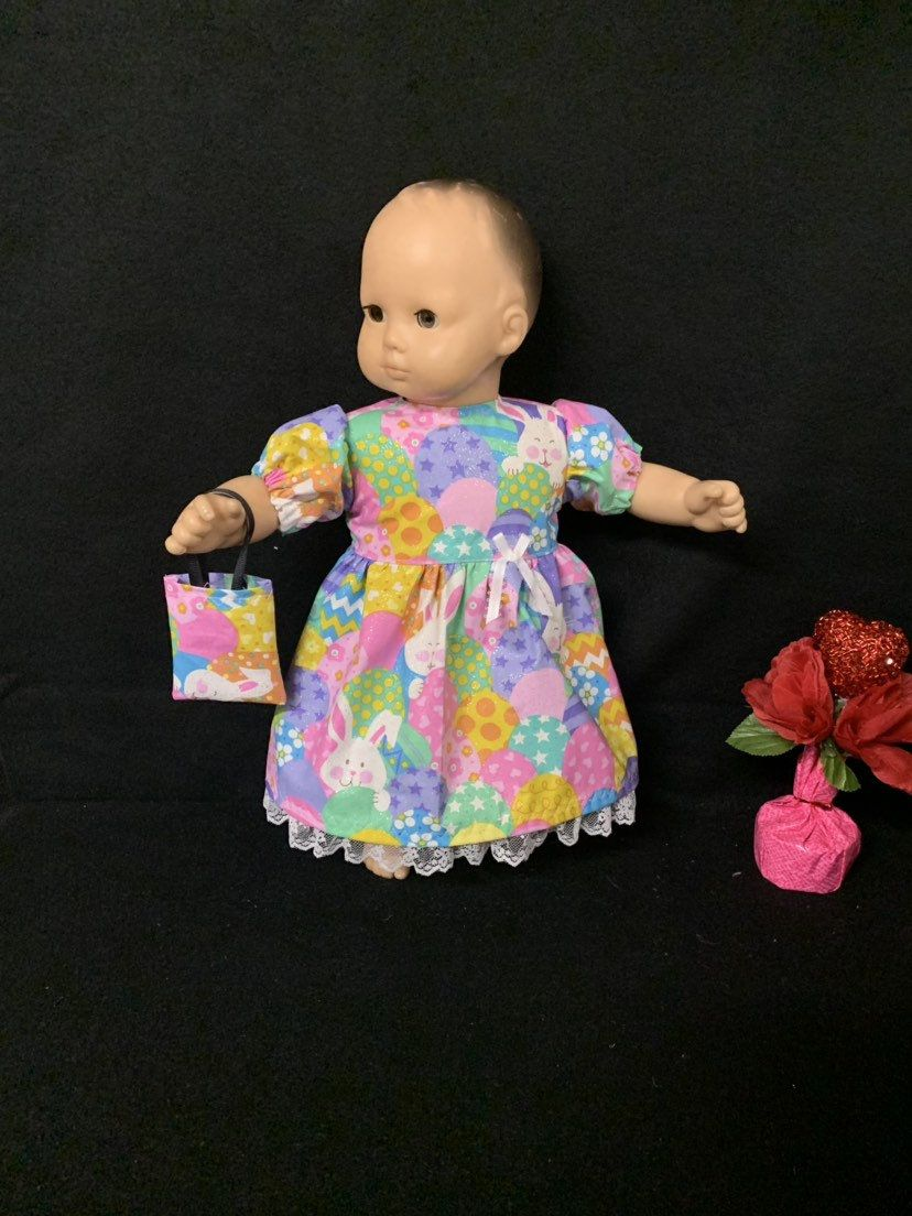 "Baby Girl  Pink Handmade 15/"" Doll Clothes for//fits AG Bitty Baby or Twins Doll"