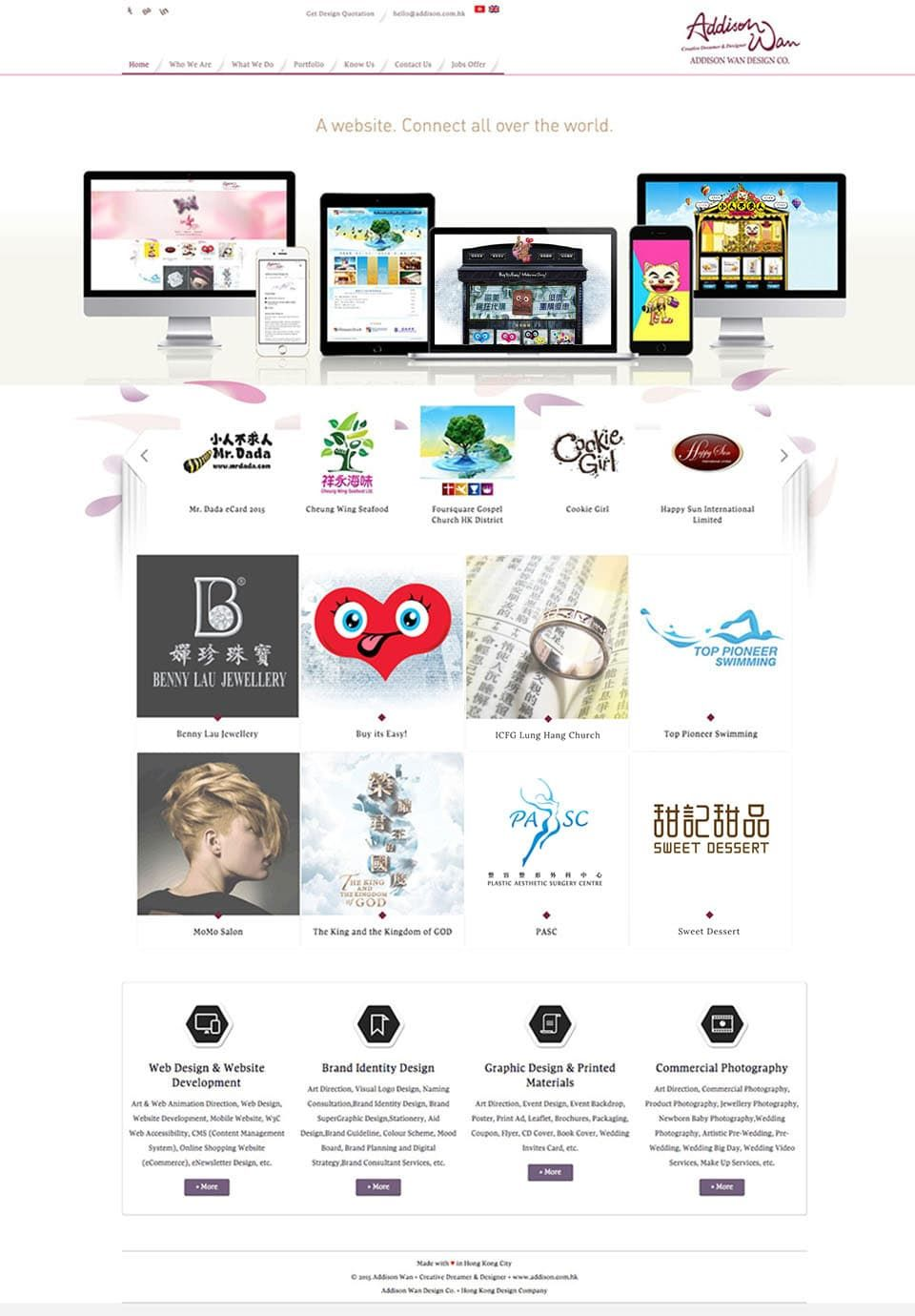 Addison Wan Design Co Is Web Design Company Located In Hong Kong Founded By Hong Kong Web Designer Addison Wan Web Design Web Design Company Website Design