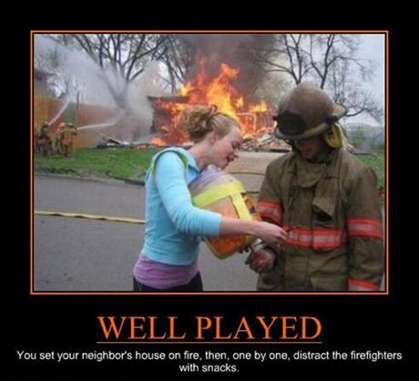 Well Played Fire Department With Images Funny Pictures