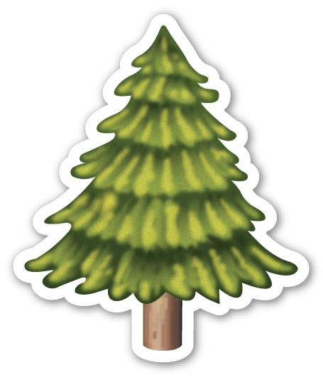 This Sticker Is The Large 2 Inch Version That Sells For 1 Each If You Are Looking For The Emoji Sticker Pack Which Tree Emoji Tree Graphic Emoji Stickers