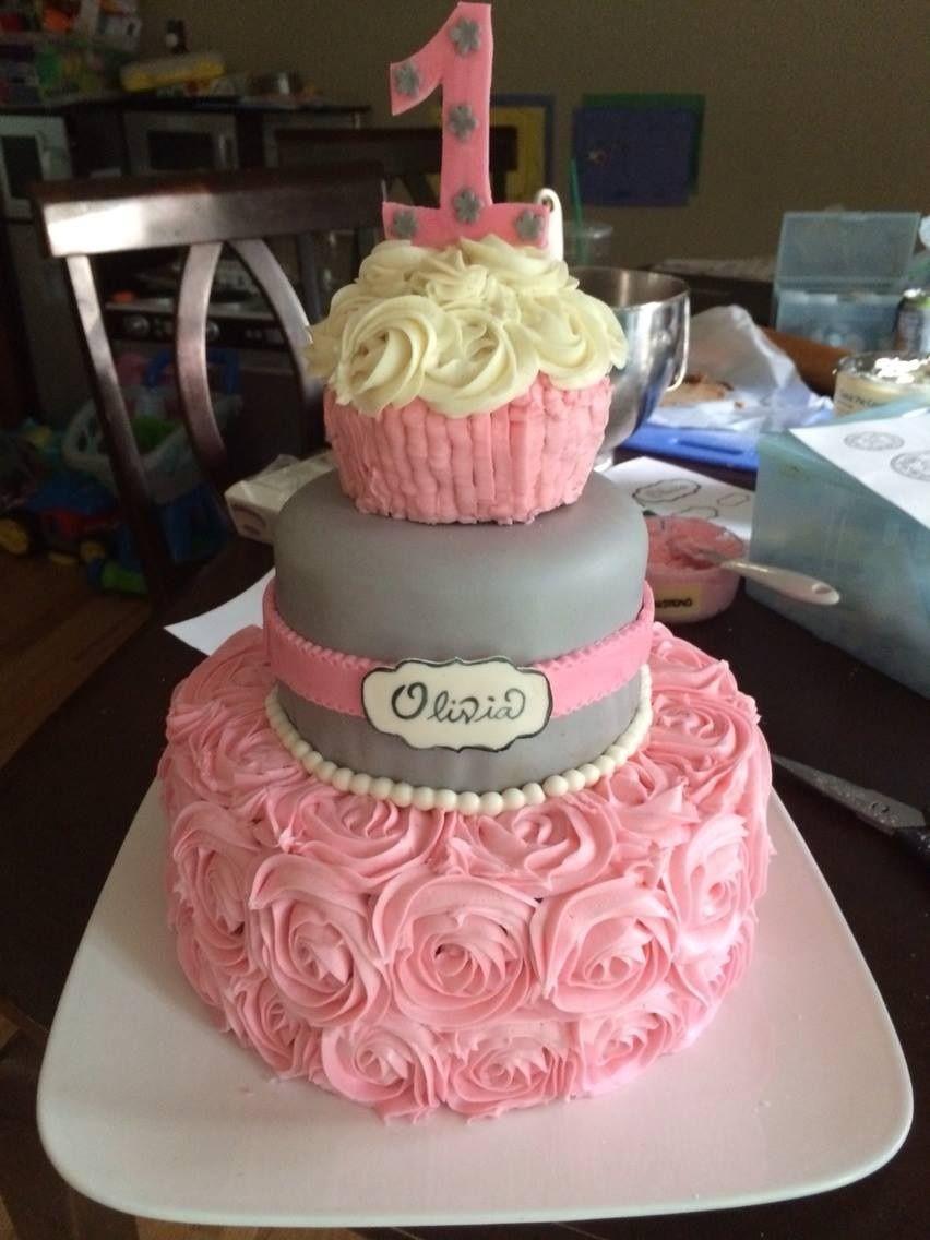 Pink And Grey Princess First Birthday
