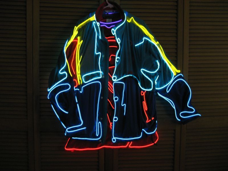 EL Wire Designs: Enlighted Illuminated Clothing | Burning man ...