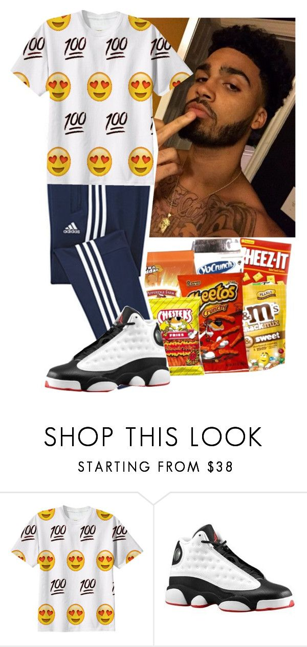 """""""Josh"""" by dontbedishonest ❤ liked on Polyvore featuring adidas, Retrò, men's fashion and menswear"""