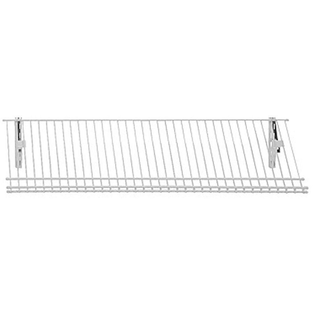 closetmaid shelftrack 36 in w 5 pair ventilated wire shoe shelf rh pinterest com