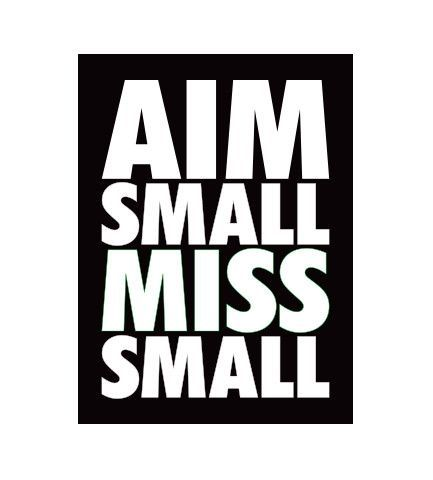 Aim Small Miss Small Decal Best Songs Love Songs Good Music