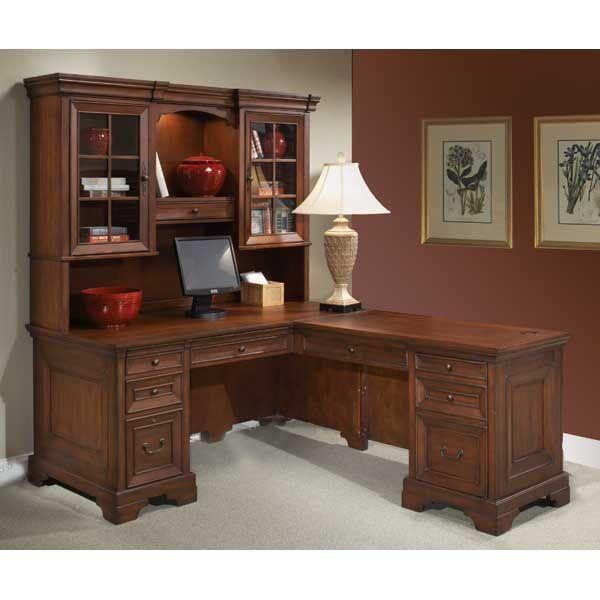 Richmond Cherry Return Desk Home Office Furniture Home Desk
