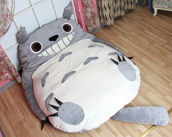 Manufacturer Large Size Anime Cartoon Totoro Bed Design Soft Mattress Kid Giant Gift Cushion Lazy