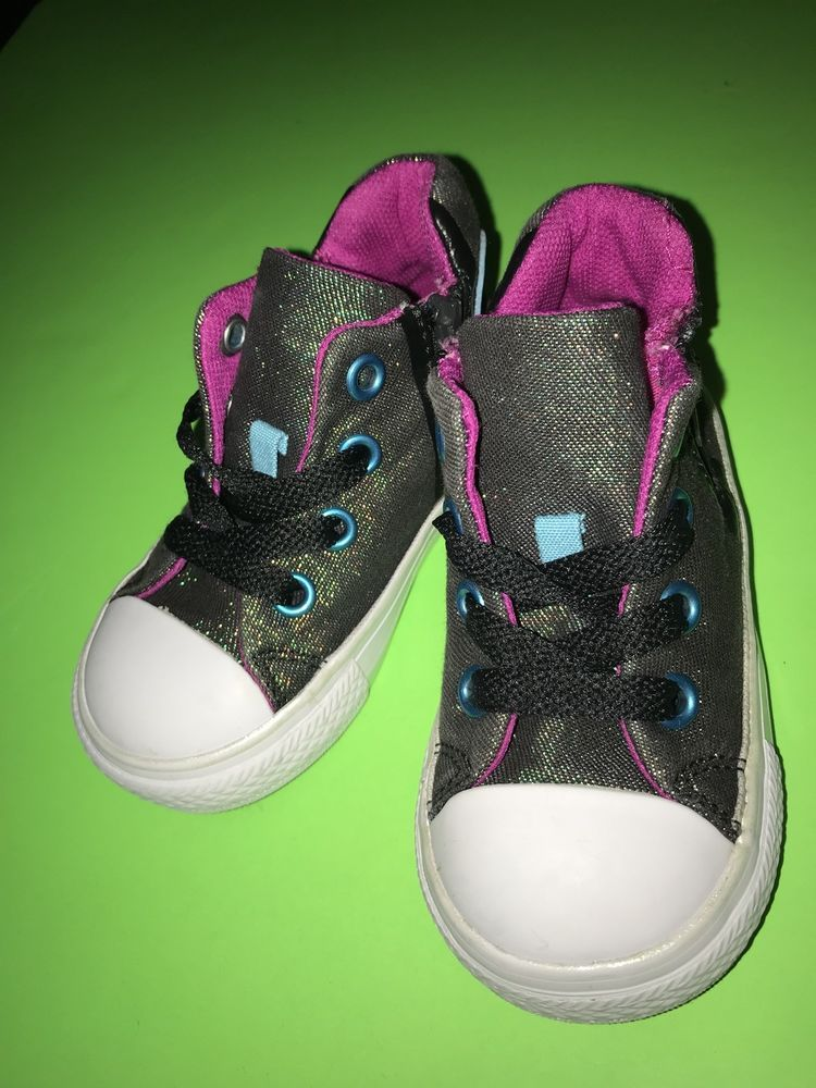 official photos 69872 49393 Converse All Star Chuck Taylor Sparkly Low Top Shoes Size 5 Toddler Zipper   fashion  clothing  shoes  accessories  babytoddlerclothing  babyshoes  ad  (ebay ...