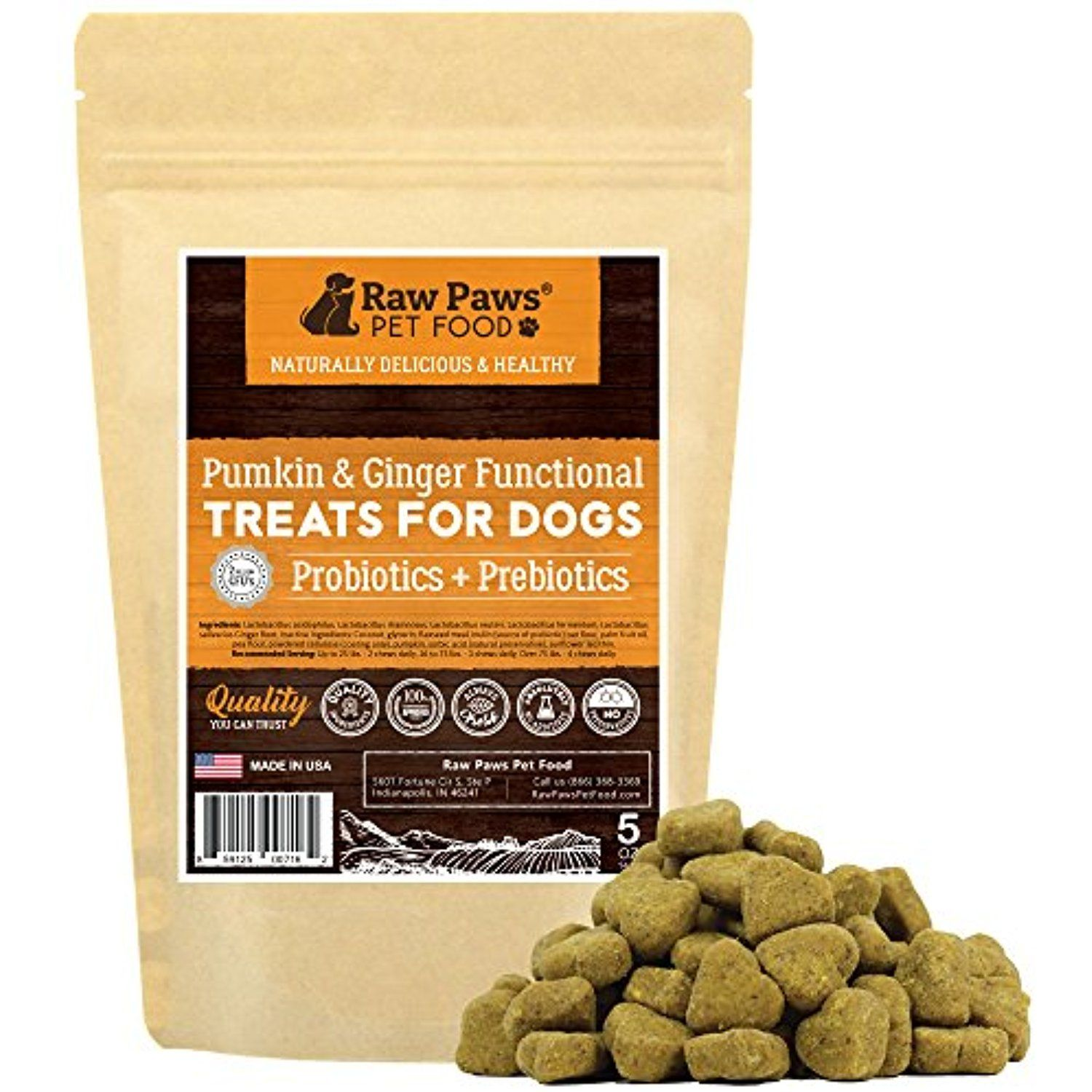 Raw Paws Pet Probiotics For Dogs With Prebiotics Functional Treats