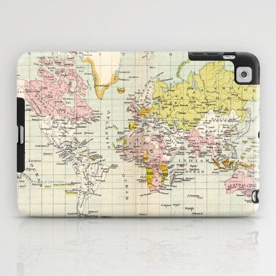 Colonial World Map ipad case, tablet case, ipad mini, world map - new world map cad free