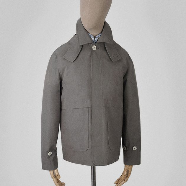 Taupe grey Ventile cotton seam jacket    Garments made with the makers of the British Isles
