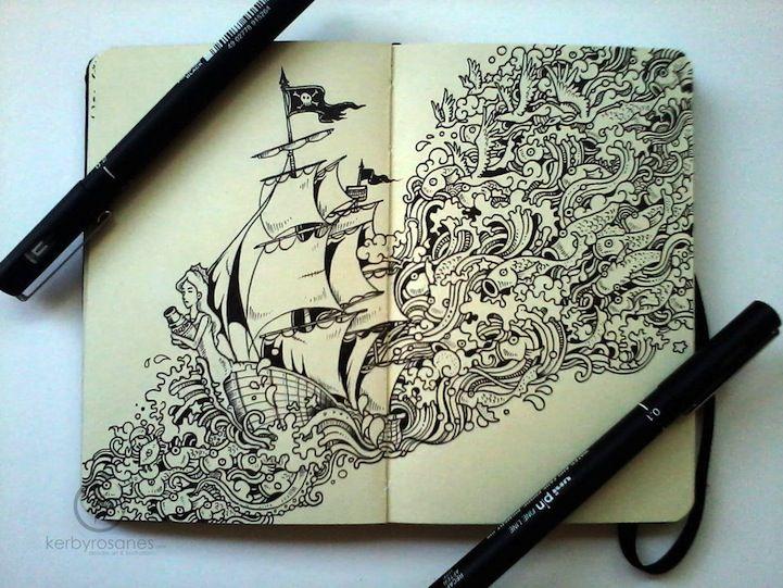 Dibujos En Libretas Ii: Espectaculares Dibujos Hechos En Libretas Moleskine