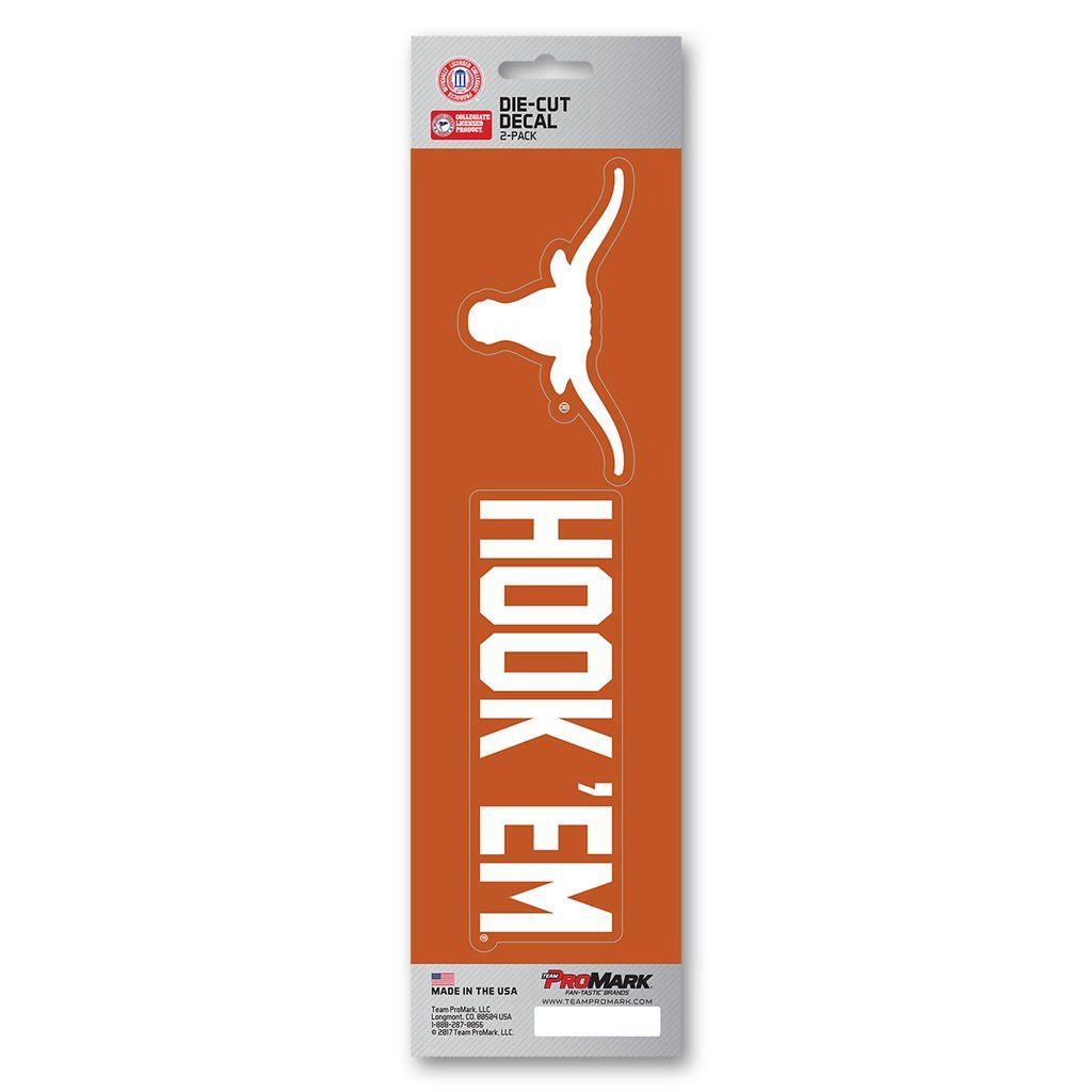 Texas Longhorns Decal Die Cut Slogan 2 Pack | Texas longhorns and ...