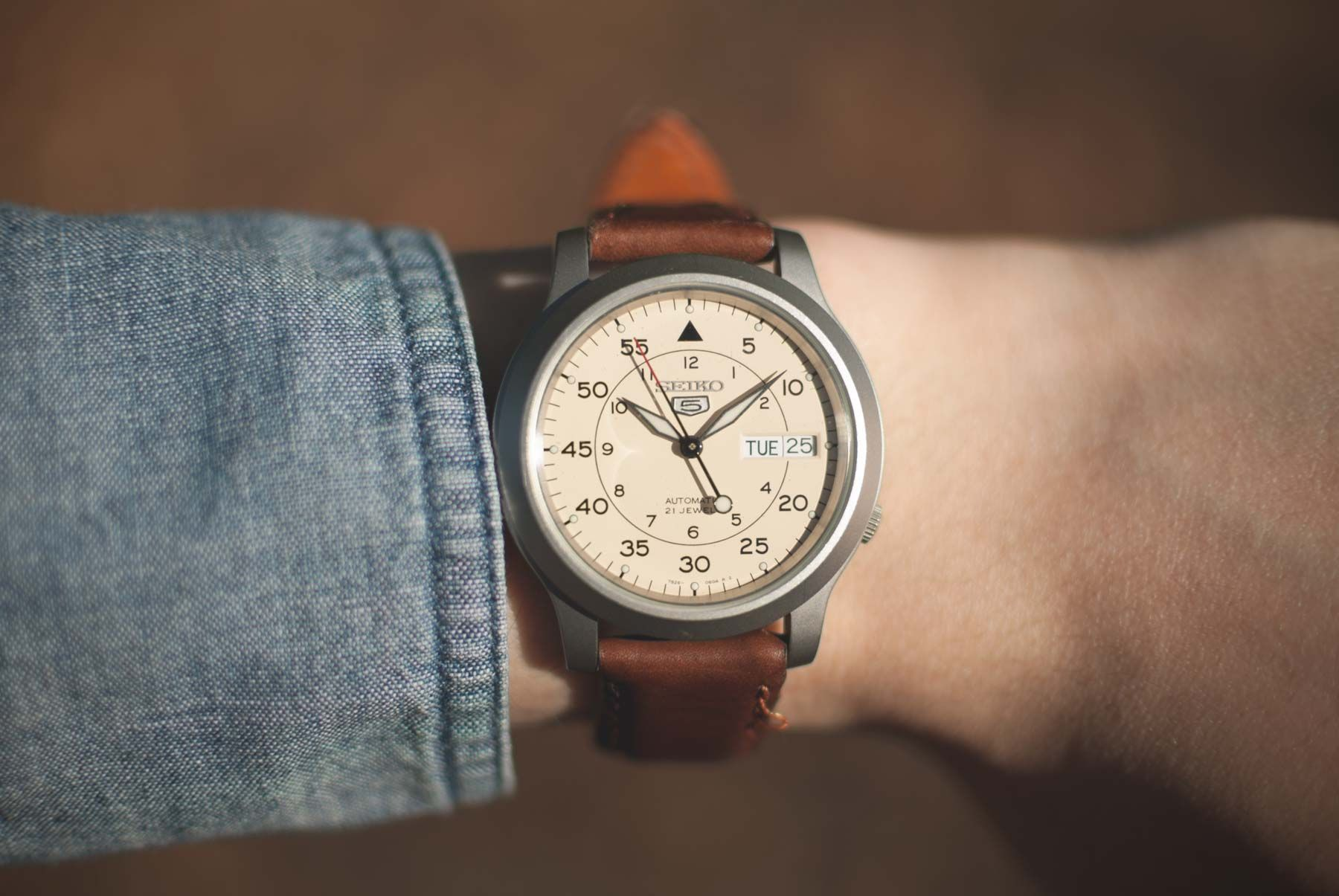 374dbba0c84 Seiko 5 military automatic watch review Retro Watches