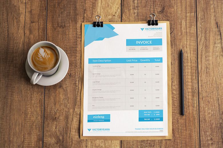 Creative invoice bill designs to impress clients - 9 creative - how to invoice clients