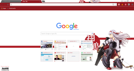 Time for Shoukaku to enter the stage of the Google Chrome Theme